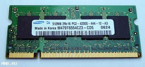 Samsung DDR2 512mB 2Rx16 PC2