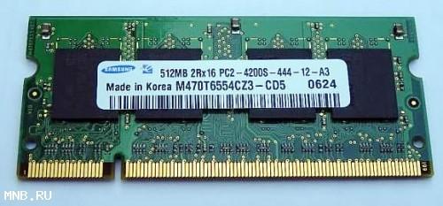 Samsung DDR2 512mB 2Rx16 PC2