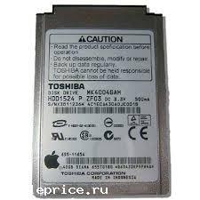 Жесткий диск Toshiba 1.8 160GB ZIF MK1634GAL