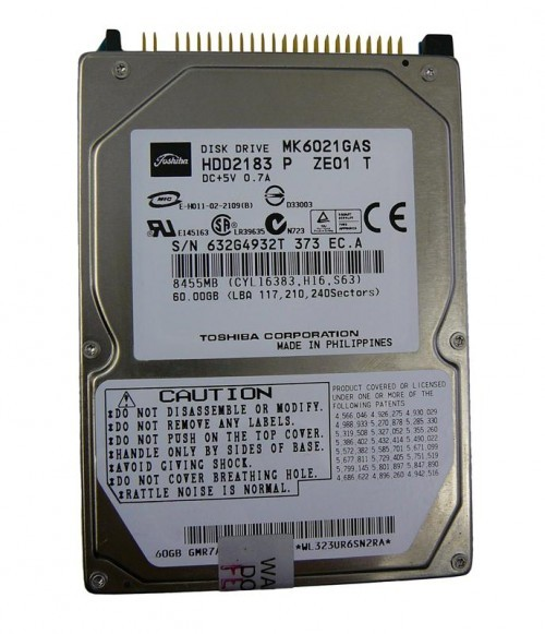 Жёсткий диск 2.5 IDE 60GB MK6021GAS